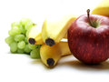 Fruit composition of isolated over white Stock Photos