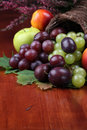Fruit cornucopia Royalty Free Stock Photos