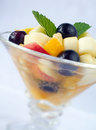 Fruit cup salad is a dish consisting of various kinds of in their own juices or a syrup salad is sometimes known as a Royalty Free Stock Image