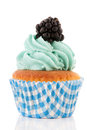 Fruit cupcake Stock Images