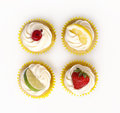 Fruit Cupcakes Royalty Free Stock Photography