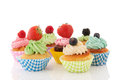 Fruit cupcakes Stock Images