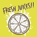 Fruit design background vector illustration of Royalty Free Stock Image