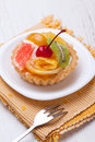 Fruit dessert tarts Stock Photo
