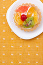 Fruit dessert tarts Stock Photos