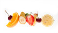 Fruit diet different kind of fruits on a skewer Stock Photography