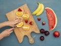 Fruit diet Royalty Free Stock Photo