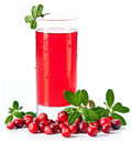 Fruit drink made from cranberries Stock Photos