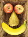 Fruit Face Royalty Free Stock Photo