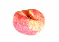 Fruit of the flat peach isolated on white background Royalty Free Stock Images