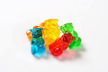 Fruit flavored gummy bears Royalty Free Stock Photo