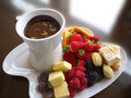 Fruit Fondue Royalty Free Stock Images