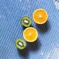 stock image of  Fruit frame, detox, tropical fruits, Oranges, kiwi, lemons, Abstract image, food, background, frame, natural, vitamin, summer,