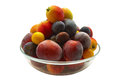 Fruit freshly picked apple, plum, cherry plum Royalty Free Stock Photo