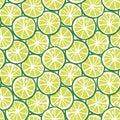 Fruit green lime citrus tropical summer pattern seamless vector