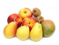 Fruit a group of with pear nectarine mango kiwi and apple Stock Image