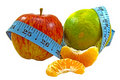Fruit: The healthy diet Stock Photography