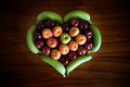 Fruit Heart Stock Photo