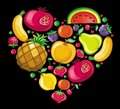 Fruit heart Royalty Free Stock Images