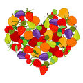 Fruit heart elegant design element Stock Photo
