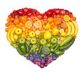 Picture : Fruit heart pastry