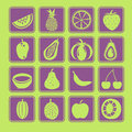 Fruit icon set the collection Stock Photography