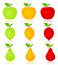 Fruit icon2 Stock Photography