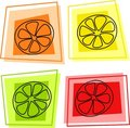Fruit icons Royalty Free Stock Photo