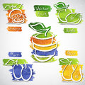 Fruit icons vector illustration of colorful icon collection Royalty Free Stock Images