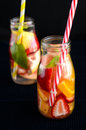 Fruit infused drink Royalty Free Stock Photo