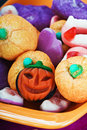 Fruit jelly candies for the holiday halloween background Royalty Free Stock Photo