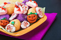 Fruit jelly candies for the holiday halloween background Stock Image