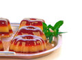 Fruit jelly and mint Stock Image