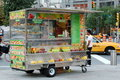 Fruit Juice Cart at Columbus Circle, New York City Royalty Free Stock Photos