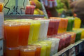 Fruit juice natural in the maket Stock Image