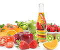Fruit juice vitamin bottle Stock Image