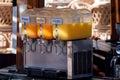 Fruit juices dispenser Royalty Free Stock Photo