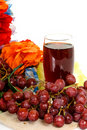 Fruit, jus de raisins rouge Images stock