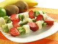 Fruit kebab Royalty Free Stock Photo