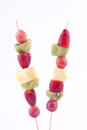 Fruit kebab Stock Images