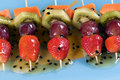 Fruit kebabs Stock Image