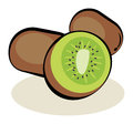 Fruit kiwi color abstract illustration Stock Image