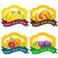 Fruit labels set 图库摄影