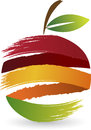Fruit logo illustration art of a with background Royalty Free Stock Photo
