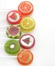 Fruit Lollipops Assortment Royalty Free Stock Photo