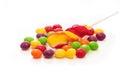 Fruit lollipops Royalty Free Stock Photo
