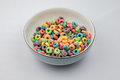 Fruit Loops in bowl Royalty Free Stock Photo