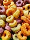 Fruit loops close-up macro Royalty Free Stock Photo