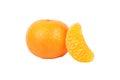 Fruit mandarine with a slice Royalty Free Stock Photo
