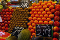 Fruit market in barcelona display with at Royalty Free Stock Image